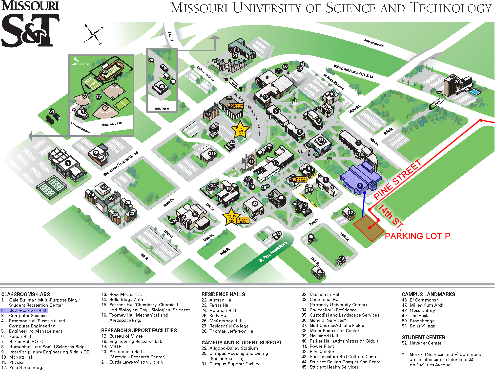 University Of Missouri Campus Map Track Your Travels Map Straight