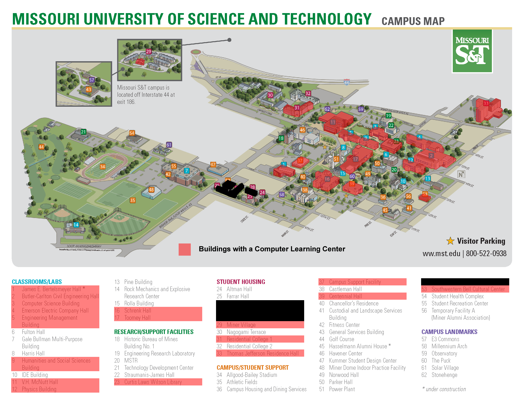 COMPUTER LEARNING CENTERS: Campus Map – Educational Technology